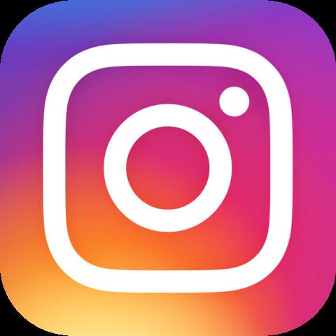 instagram logo on footer